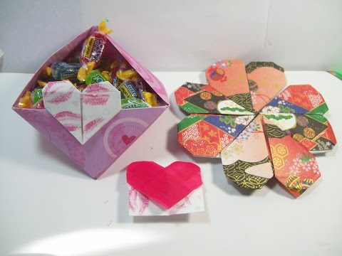 DIY Valentine Origami that I can do, Bookmark and Candy Bowl