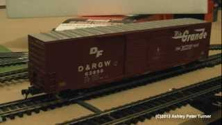 Atlas 60ft Boxcar Auto Parts Freight Wagon Rio Grande (ho Scale) Review Hd