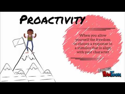 Habit 1 - Be proactive (Covey) - YouTube