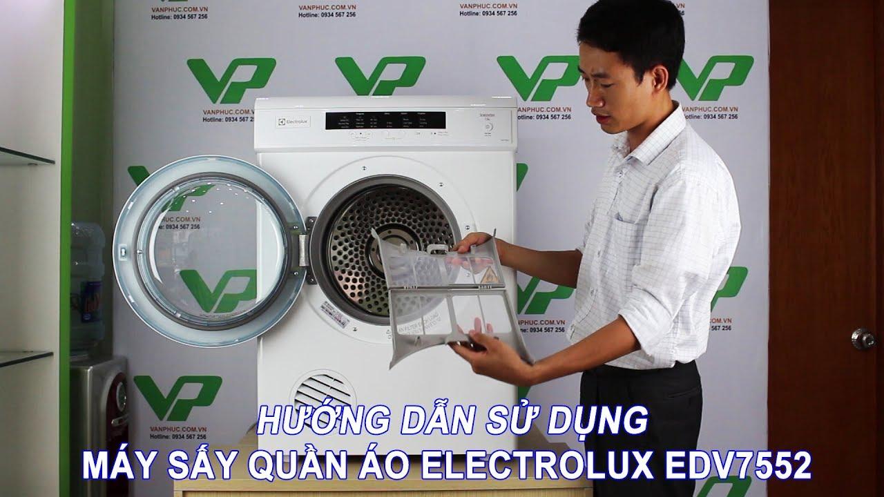 Hướng dẫn lắp đặt và sử dụng máy sấy quần áo Electrolux EDV7552