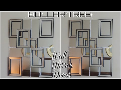 DIY DOLLAR TREE | HIGH END MIRROR WALL DECOR | DIY HOME DECOR IDEAS 2018 | PETALISBLESS
