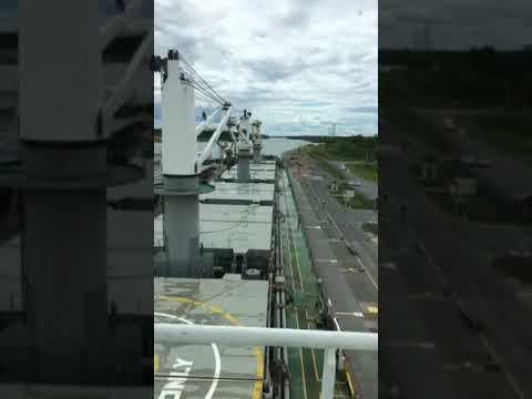Iryda passing through St Lawrence Seaway Locks 1
