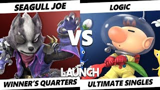 Launch Smash Ultimate - Demise | Seagull Joe (Wolf) VS VGBC | Logic (Olimar) SSBU Winner's Quarters
