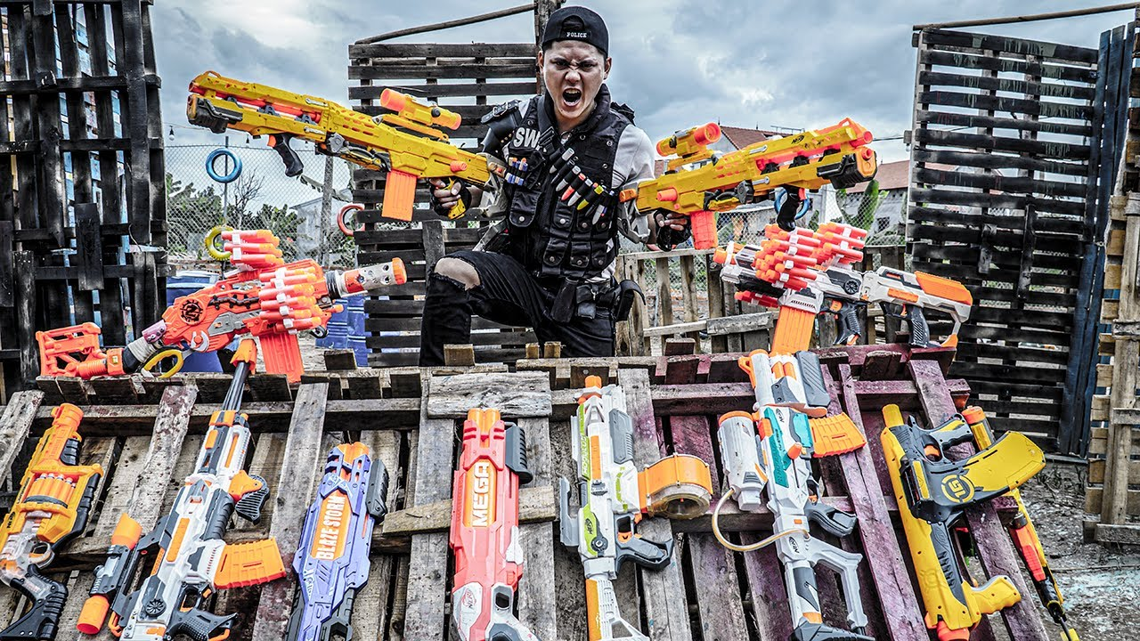 LTT Nerf War : Captain SEAL X Warriors Nerf Guns Fight Dr.Lee Crazy The Boss's Spectacular Escape