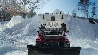 BOSS Snowrator In Action | BOSS Snowplow |