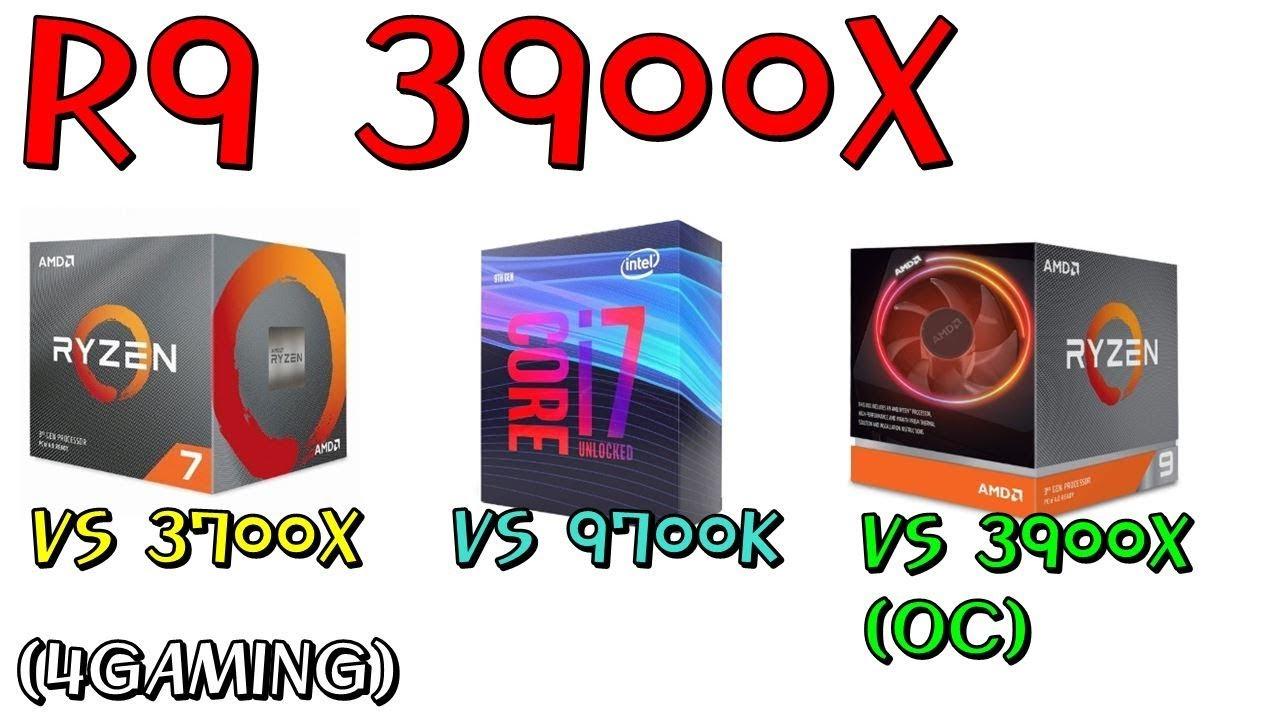 3900X VS 3700X VS 9700K (4GAMING) 오늘은 게이밍용도로 3900X가 과연 좋은가 한번 비교해 봤습니다! - 신성조 - YouTube