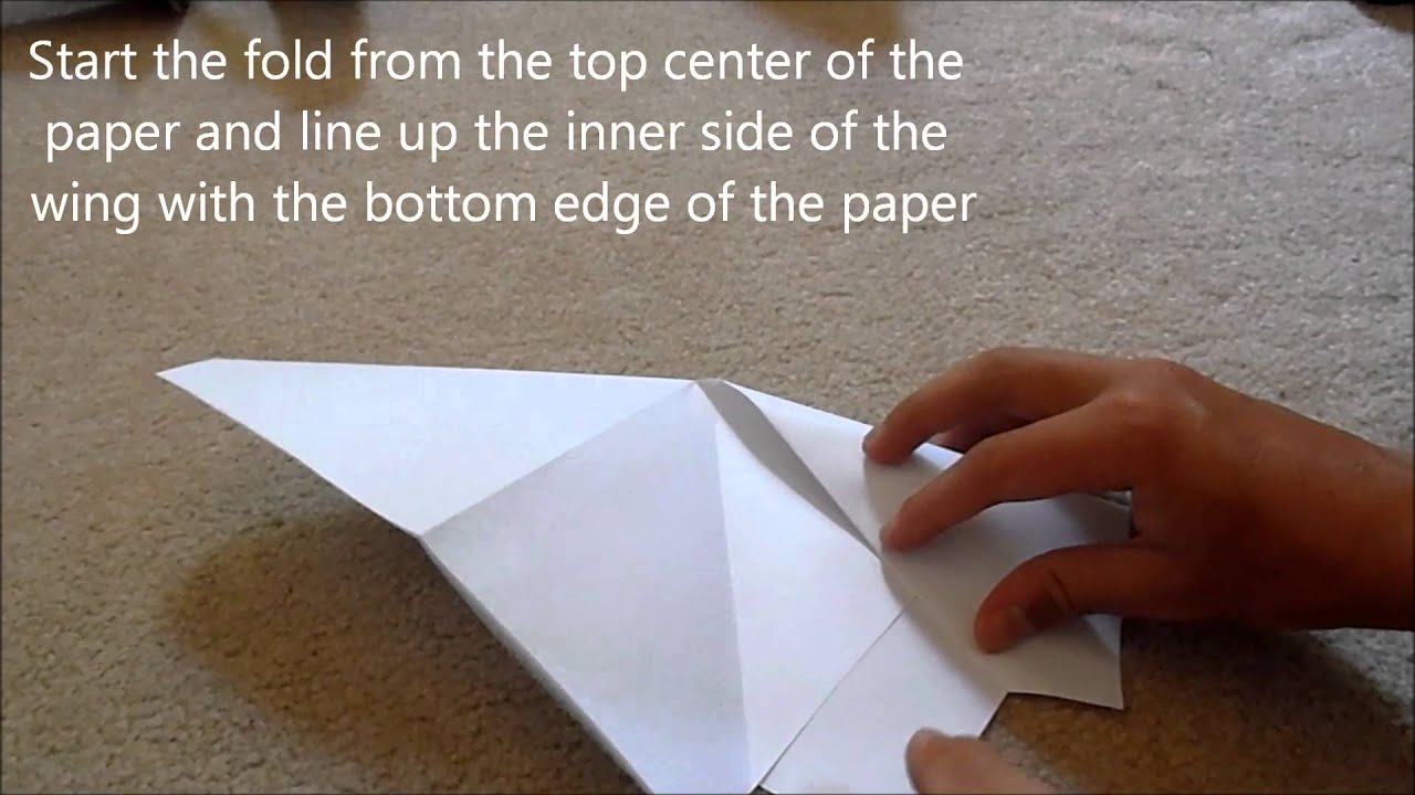 how to make a unique paper airplane