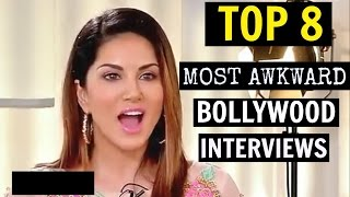 TOP 8 Most Awkward & Embarrassing Bollywood Int...