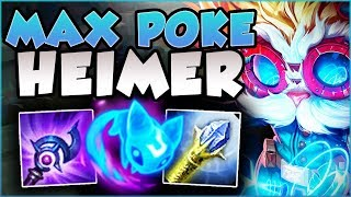 MAX POKE BUILD = BIG BRAIN HEIMER! DEAL 75K+ DAMAGE IN 1 GAME?? HEIMER GAMEPLAY! - League of Legends
