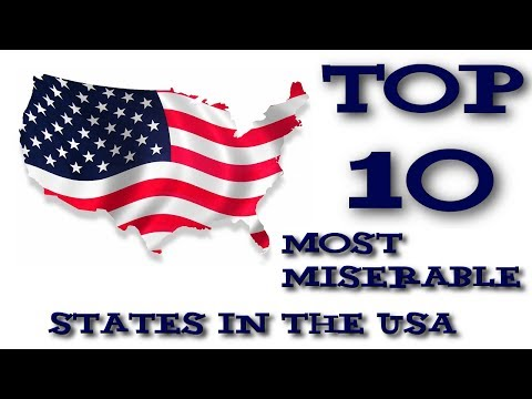Top 10 Most Miserable States in the USA