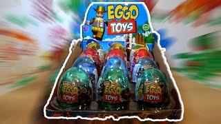 Eggo Toys 12 Big Kinder Surprise Egg unboxing