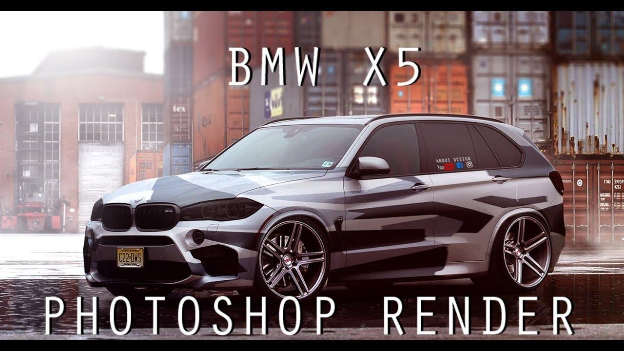 Bmw X5 Camo Wrap Photoshop Render Youtube