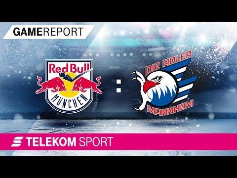 EHC Red Bull München - Adler Mannheim   Halbfinale, Spiel 1, 17/18   Telekom Sport