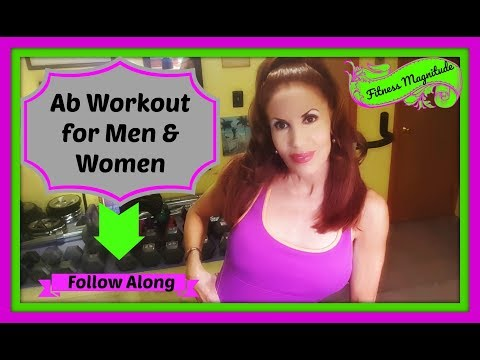 Ab Workout for Men and Women! Follow Along Stomach Exercise