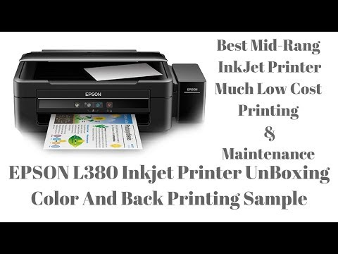 Epson L380 InkJet Printer UnBoxing With Printing Sample And