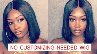 No Customizing Needed Bob Wig |Pre-Plucked Natural Looking Wig