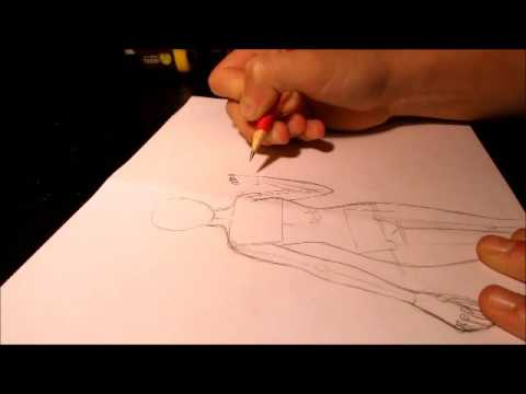How to Draw Female Body Template (Tutorial) - YouTube