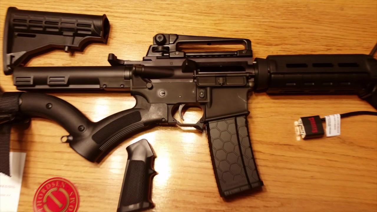 California Legal Compliant Featureless AR-15 Rifle - YouTube