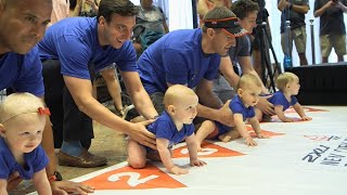 Babies Crawl Across Finish Line in New York's 2018 Diaper Derby