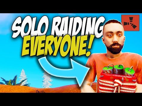SOLO RAIDING ALL OF MY NEIGHBOURS WOOD BASES! - Rust