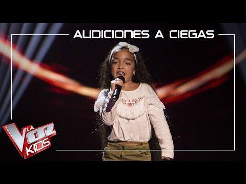 Manuela Gómez Canta 'Aún No Te Has Ido'   Audiciones A Ciegas   La Voz Kids Antena 3 2019
