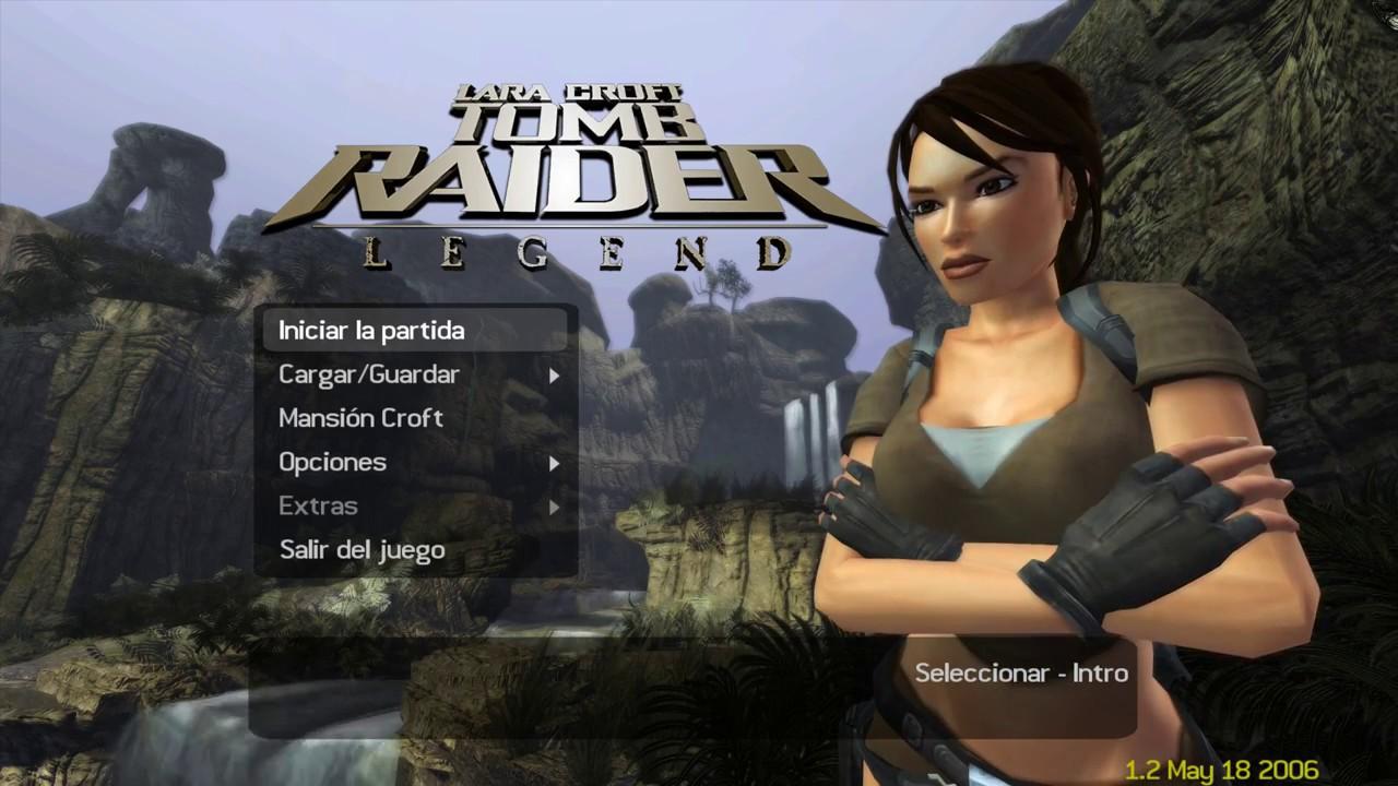 Tomb Raider Legend Main Menu Youtube