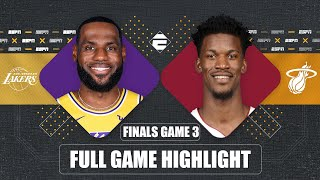 Los Angeles Lakers vs. Miami Heat [GAME 3 HIGHLIGHTS] | 2020 NBA Finals