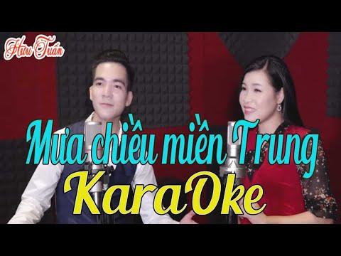 Karaoke Mưa Chiều Miền Trung Beat Chuẩn - Song Ca Hát Về Miền Trung Cực hay