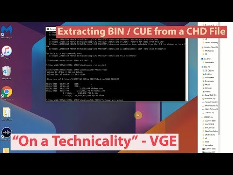 Tutorial for making bin/cue from CHD files - a video