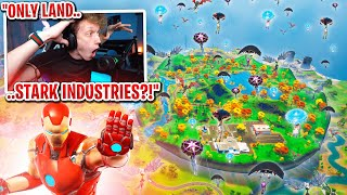 I got 100 FANS to scrim by ONLY landing at STARK INDUSTRIES! (most intense scrim ever)