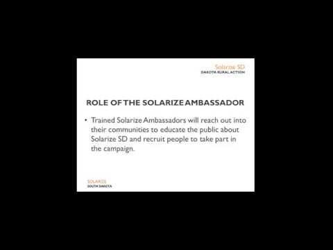Solarize SD: Solarize Ambassador Training