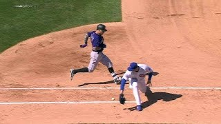 COL@CHC: Lester gets the out at first