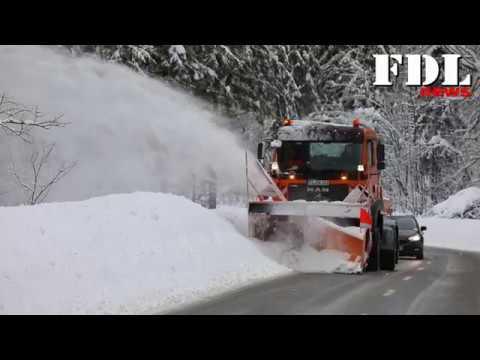 Winter in Reit im Winkl, Winterdienst im Einsatz 2019, Schneechaos im Griff
