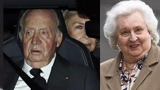 La emotiva despedida de Doña Pilar por el rey Juan Carlos y la reina Sofía