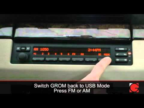 BMW X5 2006 GROM-USB2 iPod iPhone Bluetooth Android Interface Adapter Usage  instructions