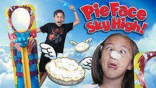 PIE FACE SKY HIGH CHALLENGE!!! 3 Foot High Pie Slam!