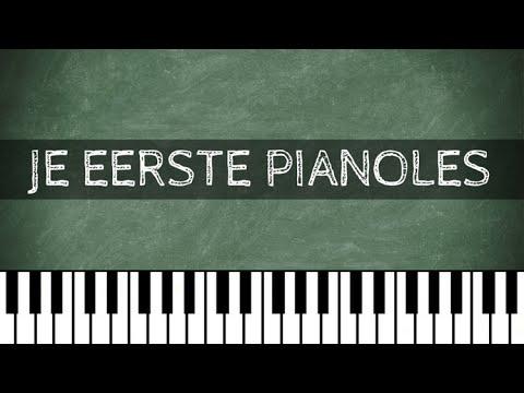 Super Piano Leren Spelen - Pianoles - Piano voor Beginners - Les 1 - YouTube #CR75