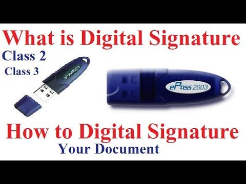 What is Digital signature , How to Digital Signature your Document in hindi