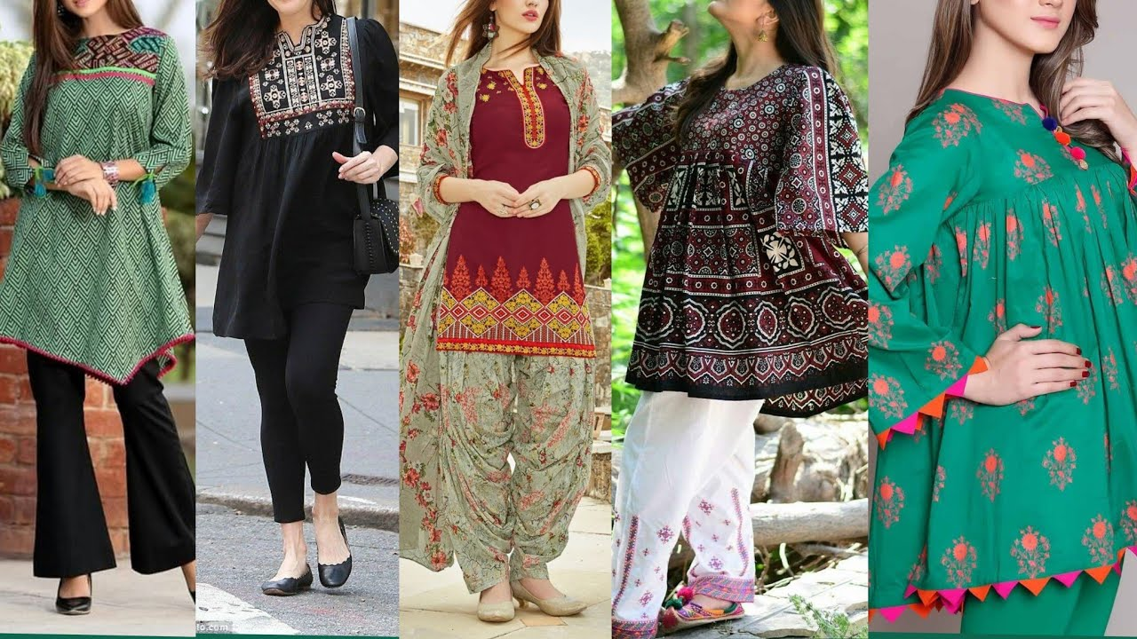 Exclusive Beautiful And Stylish Short Shirts Frock Style Designs 2019 Youtube