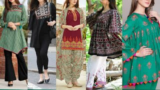 Exclusive Beautiful And Stylish Short Shirts Frock style & Designs 2019