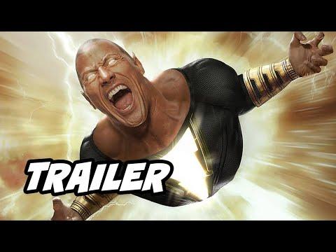 Black Adam Trailer - Superman Justice League and Shazam Movie Easter Eggs DC Fandome