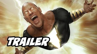 Black Adam Trailer - Superman Justice League and Shazam Movie Easter Eggs DC Fandome 2020