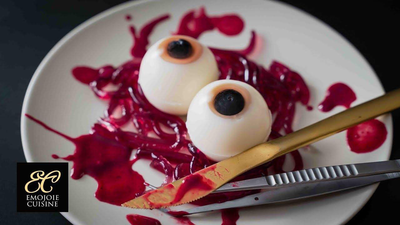 【ハロウィンレシピ】目玉ゼリー ミミズゼリーの作り方 |  えもじょわキュイジーヌ