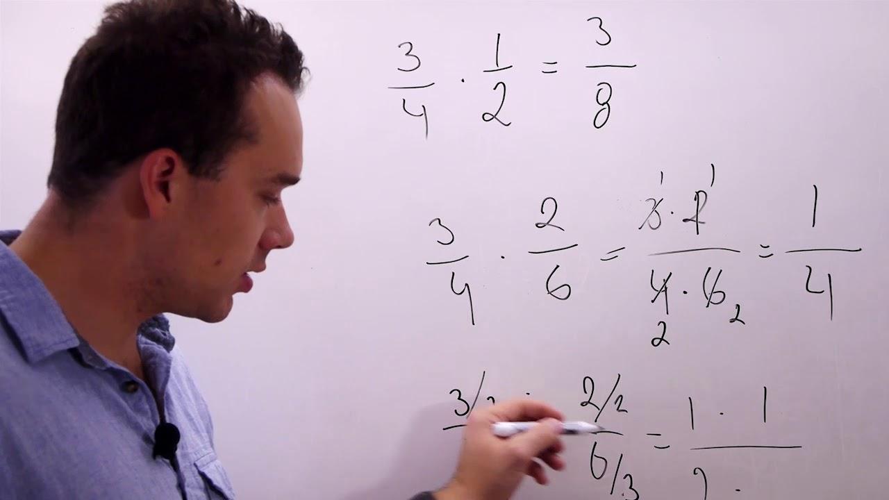 Tal 8.14. Multiplicera bråk. Matematik åk. 8. Kap. 1, avsnitt 14.
