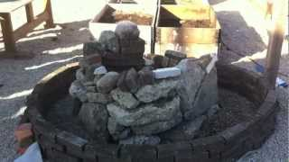 Herb Spiral Construction Permaculture Introduction, at Prags Have urban farm