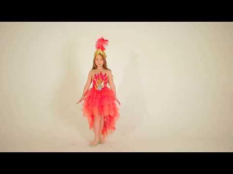 Карнавальный костюм жар-птицы бальный