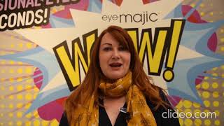 What People say about eyeMajic Instant Eyeshadow? London Olympia Beauty Show