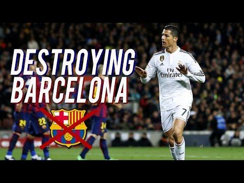 Cristiano Ronaldo Destroying Barcelona 2008-2017 | HD