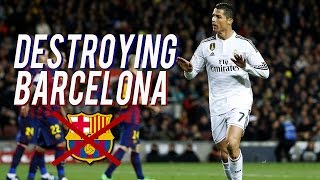 Cristiano Ronaldo Destroying Barcelona 2008-2017 | HD