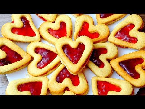 Песочное печенье Сердечки на День Влюбленных!